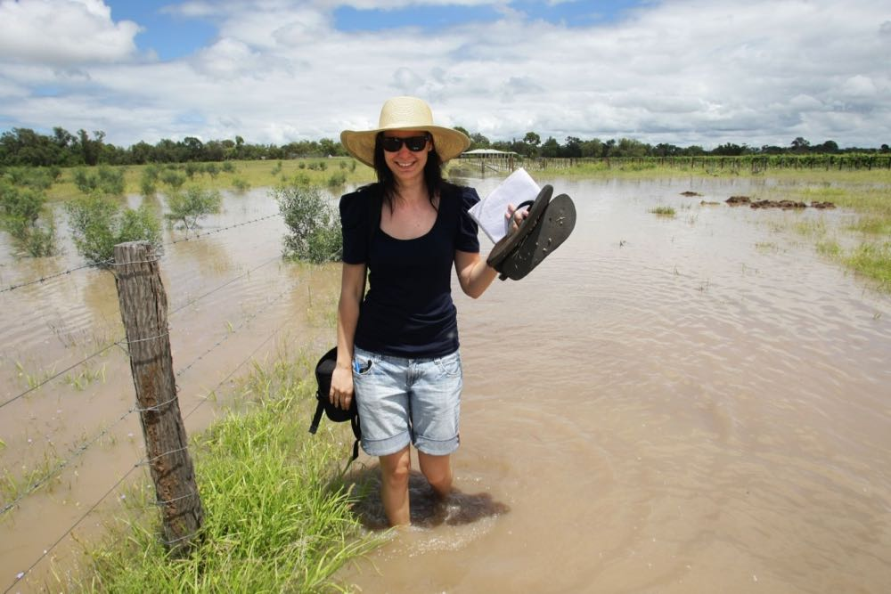 Koren Helbig reporting on the Queensland floods