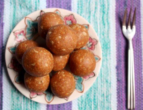 Peanut butter cookie batter bliss balls