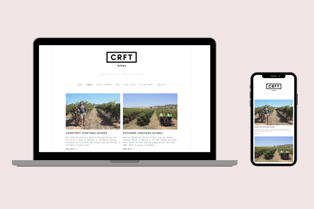 CRFT Wines growers' stories landing page