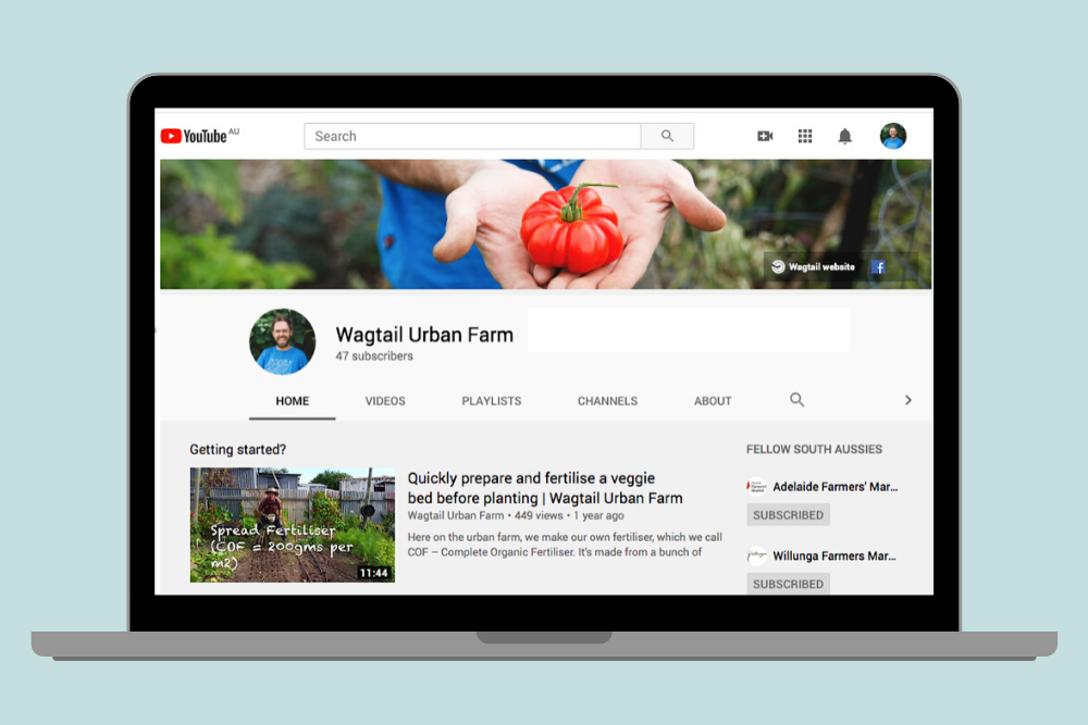 Wagtail Urban Farm YouTube upgrade