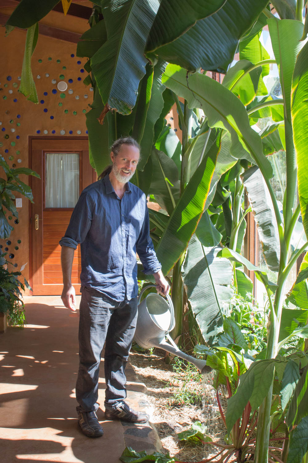 Martin Freeney in the Earthship Ironbank