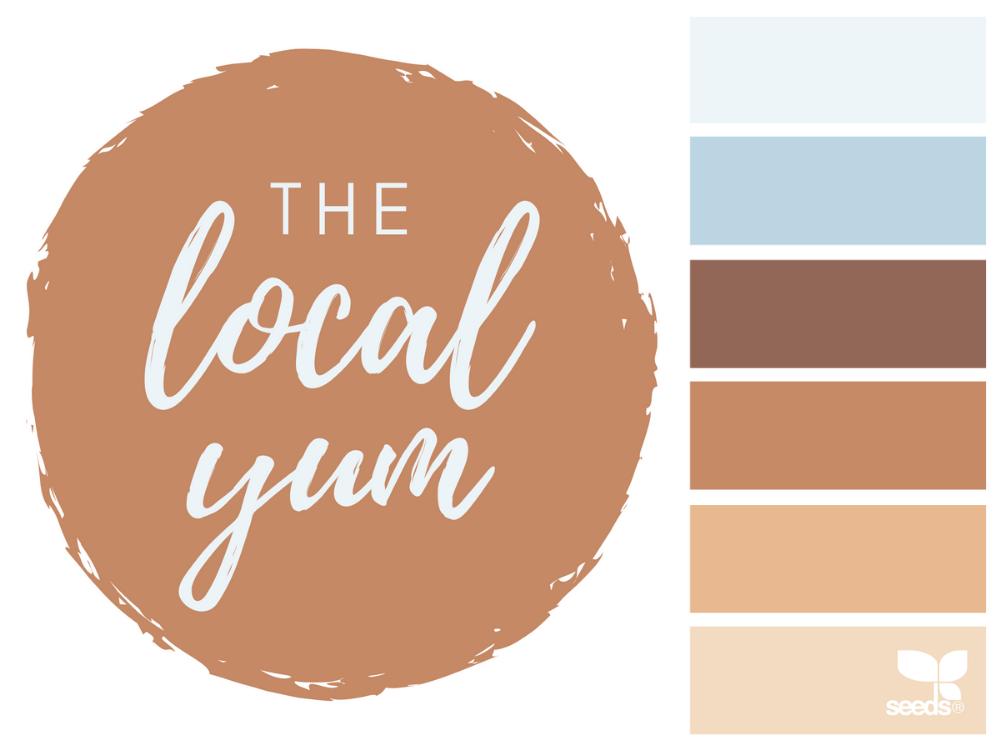 The Local Yum logo and colour palette.